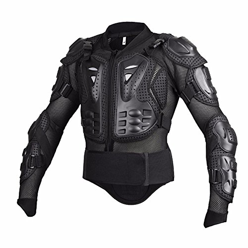 Professional Motorcycle Racing Motocross Full Body Armor - L , Black by Single Mom