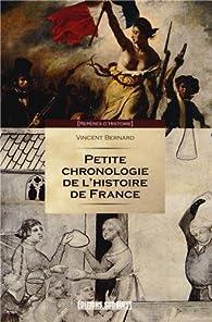 Book's Cover ofPetite chronologie de l'histoire de France