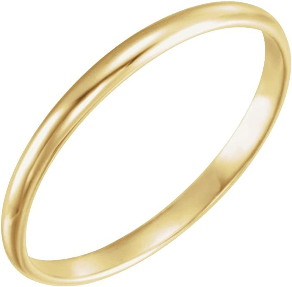 Jewels By Lux 14K Yellow Gold Youth Wedding Ring Band