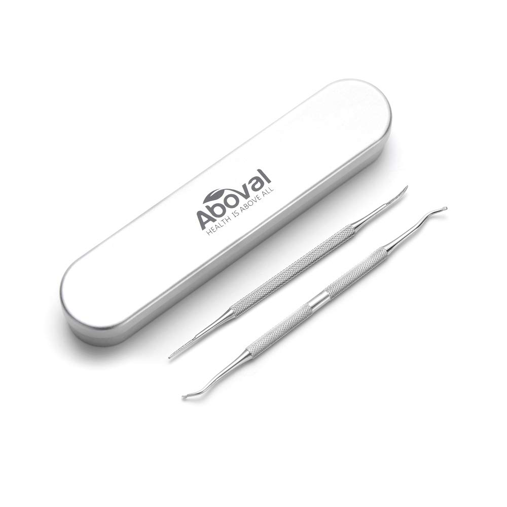 Aboval Ingrown Toenail File and Lifter Double Side Stainless Steel Nail Cleaner for Home & Salon Use