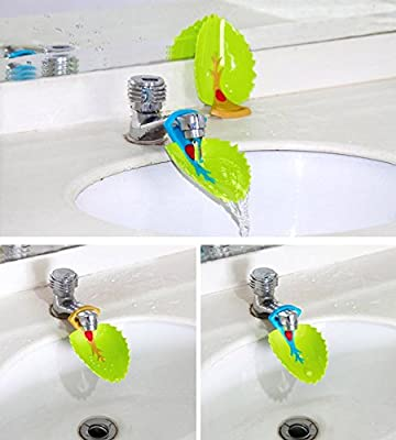 DLOnline 4PCS Faucet Cover, Leaf Design Faucet Extender, Sink Handle Extender for Babies, Toddlers, Kids and Children