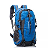 UBORSE Hiking Backpack 40L, Ultra Lightweight Waterproof Travel Daypack Trekking Bag for Outdoor Camping Travel Hiking and Mountaineering for Men and Women, Blue