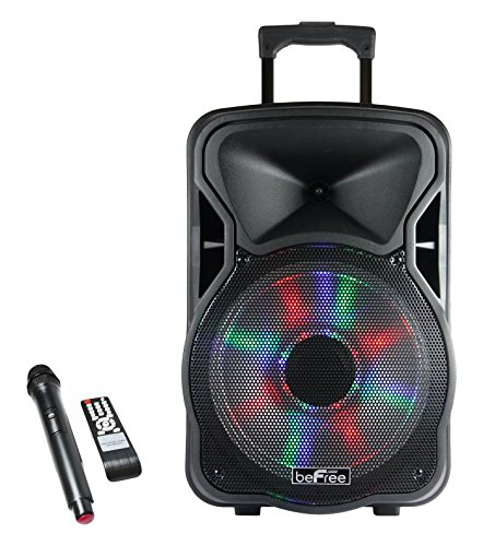 beFree Sound BFS-5800 Bluetooth Rechargeable, Party Speaker with Illuminating Lights, 15' W