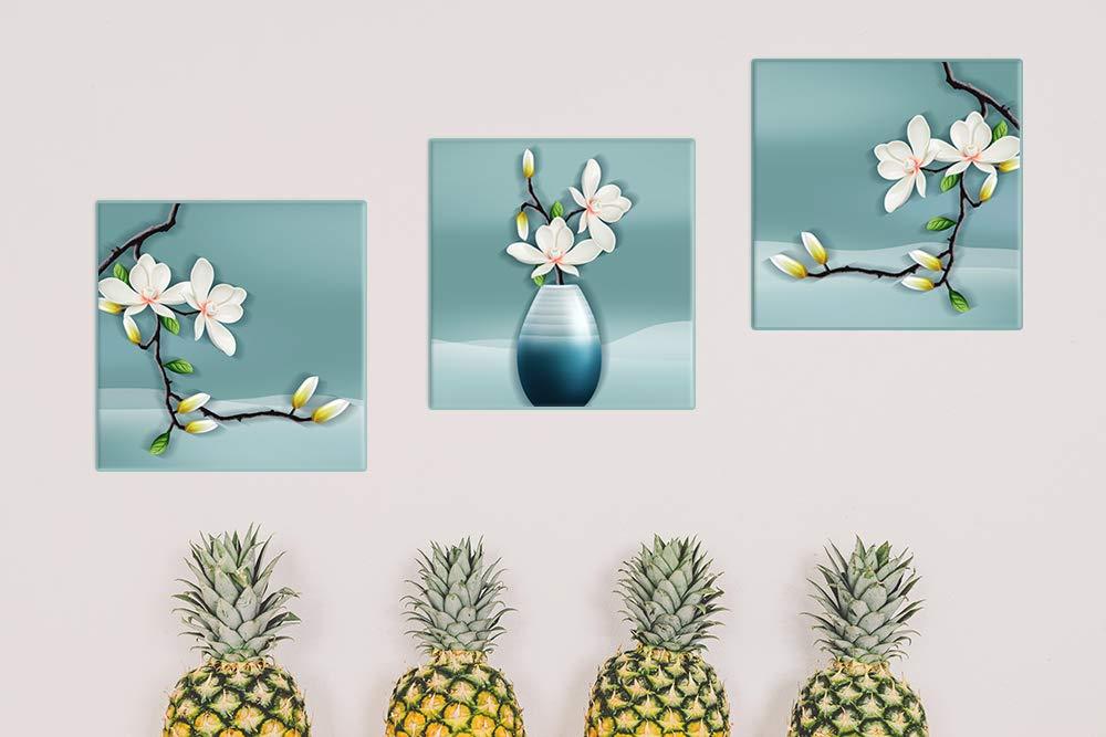 Piy Painting Quadro su Tela Stampa Disegno su Tela Canvas Impermeabile Quadro Orchidea Fiori Decorazione Murale Pianta in Vaso D/écor per Camera da Pranzo Cucina Regalo di Compleanno 30x30cm 3 unit/à
