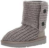 UGG Girls K Cardy II Pull-On Boot, Grey, 6 M US Big Kid