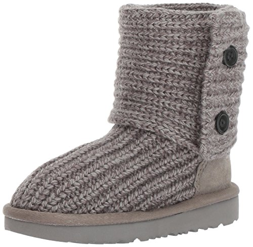 Cardy Fashion Boot - UGG Girls K Cardy II Pull-on Boot, Grey, 6 M US Big Kid