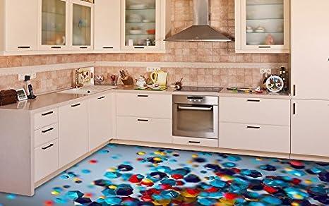 Ruvitex d decor pavimento piastrelle per pavimento in pvc adesivo