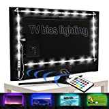 LED Strip Lights for TV Backlight,RGB 6.17Ft Bias Lighting with Remote for 30 to 50 inches Flat HDTV and USB Powered Light Strip-Color Changing & Dimmable 4 Pack