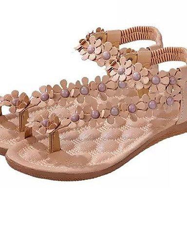 b8e235aec760b4 ... ShangYi Sandaletten für Damen Damenschuhe Kunstleder Flacher Absatz  Flip Flops Sandalen Outddor Kleid Lässig