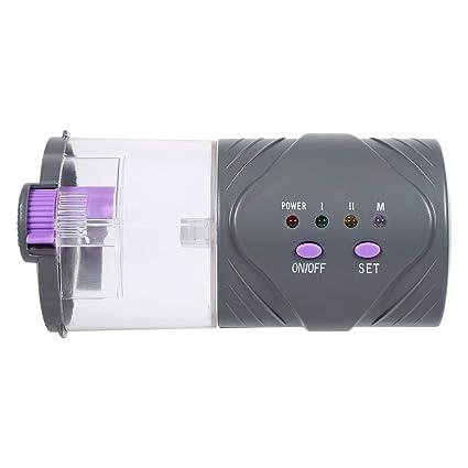 Asixx Alimentador Automático de Peces, Dispensador de Comida, Alimentado por Baterías AA 2pcs 1.5