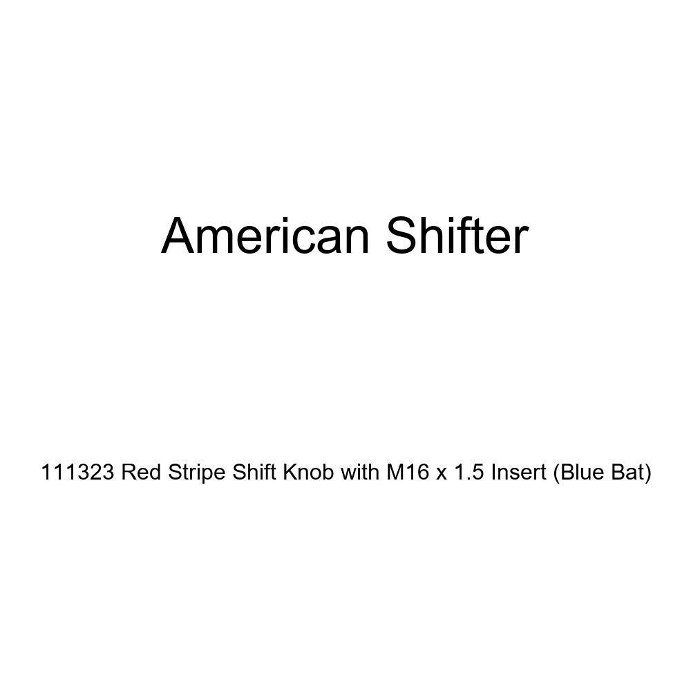 Blue Bat American Shifter 111323 Red Stripe Shift Knob with M16 x 1.5 Insert