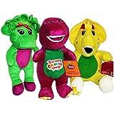 "Barney Baby Bop BJ Plush Stuffed Toy Doll 12"" 3pcs Set Singing Song"