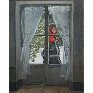 Oil Painting 'The Red Kerchief, Portrait Of Mrs. Monet, 1878 By Claude Monet', 12 x 15 inch / 30 x 38 cm , on High Definition HD canvas prints, gifts for Bath Room, Home Theater And Nursery Decoration