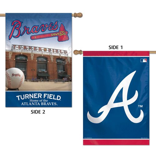 WinCraft MLB Atlanta Braves 2 Sided Vertical Flag, 28 x 40