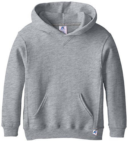 Russell Athletic Big Boys' Fleece Pullover Hood, Oxford, Large
