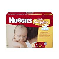 Huggies Little Snugglers Size 1 Giant Pack, 160 Count