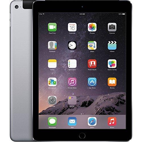 Apple iPad Air 2 16GB Factory Unlocked (Space Gray, Wi-Fi + Cellular 4G, Apple SIM) Newest Version