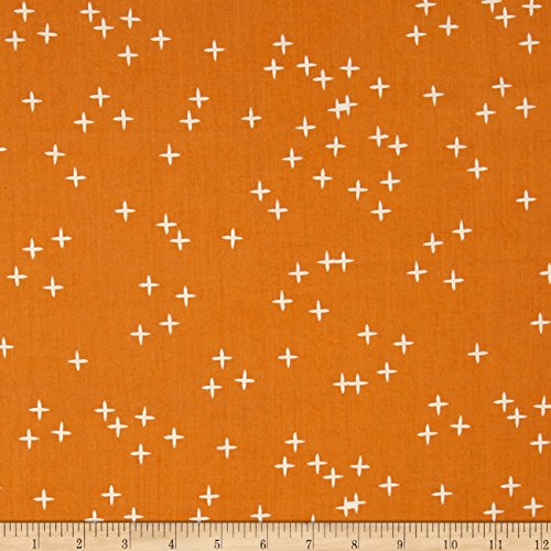 Birch Organic Fabrics Birch Organic Mod Basics 3 Wink Orange Fabric by The Yard
