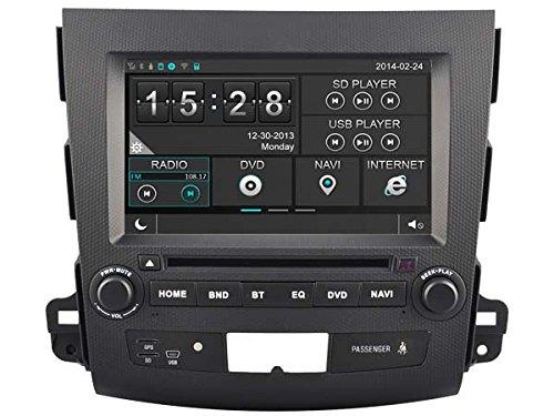 hkhonda para Mitsubishi Outlander coche reproductor de DVD GPS navegación 3 G WIFI tarjeta SD con mapas: Amazon.es: Iluminación