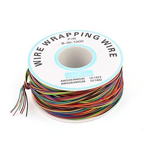 eDealMax Color clasificado 0, 25 mm Diámetro del alambre de cobre 30AWG Envoltura Wrap, 1000: Amazon.com: Industrial & Scientific