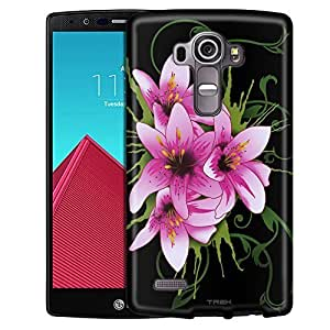 LG G4 Case, Slim Snap On Cover Summer Lilies on Black Case