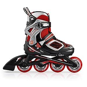 Freizeit Roller Skates INLINE skating half soft Ausstich Freizeit Schuhe...