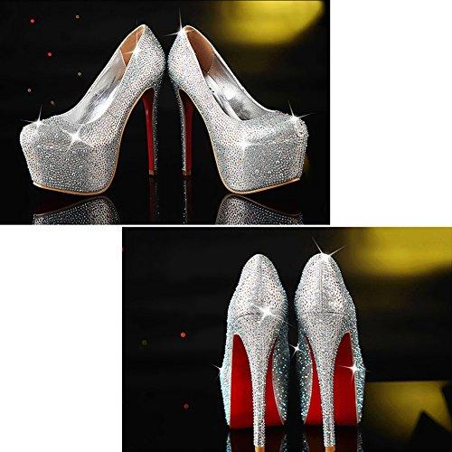 LIANGJUN talons hauts L Taille pour disponibles 6 à 225 Chaussures FR femme tailles en EU35 cristal H4qrHEw