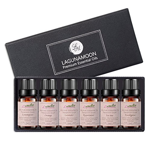 Aromatherapy Essential Oils Gift Set Top 6 100% Pure Premium Therapeutic Grade Oils Lavender Tea Tree Eucalyptus Lemongrass Orange Peppermint Essential Oils