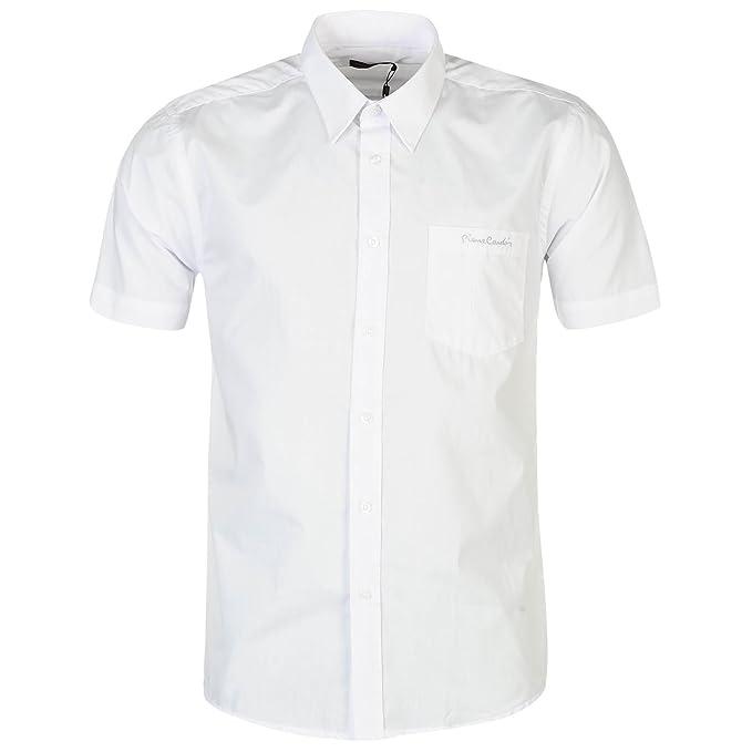 Pierre Cardin - Camisa casual - con botones - con botones - Manga corta -  para