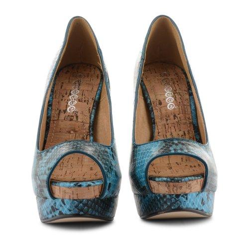 Footwear Sensation - punta abierta de sintético mujer azul - azul