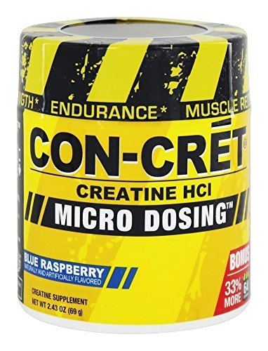 CON CRET Creatine HCL Blue Raspberry, 2.43oz 69g
