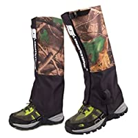 Mmei Pair of Camouflage Waterproof Gaiters Legging for Outdoor Hiking Walking Climbing Hunting Snow