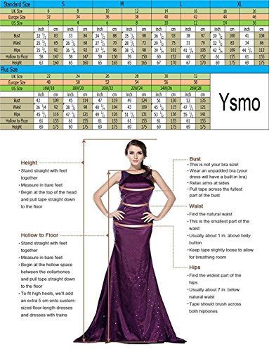Ysmo - Vestido - trapecio - Sin mangas - para mujer Erröten