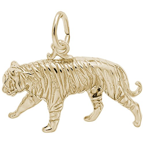 arm, Charms for Bracelets and Necklaces (Gold Plated Tiger Charms)