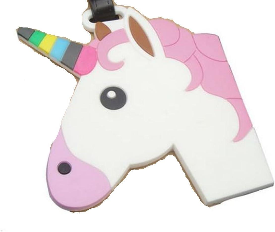 wadle-shop/® /Étiquette de bagage Motif t/ête de licorne