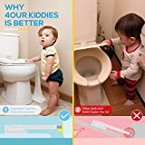 Baby Proofing Toilet Lock [2 Pack] Upgraded Gapless Pallet Mechanism for Child Safety, Universal Fit for Most Toilet Lid, Toolless 3M Adhesive Intallation with No Damage to