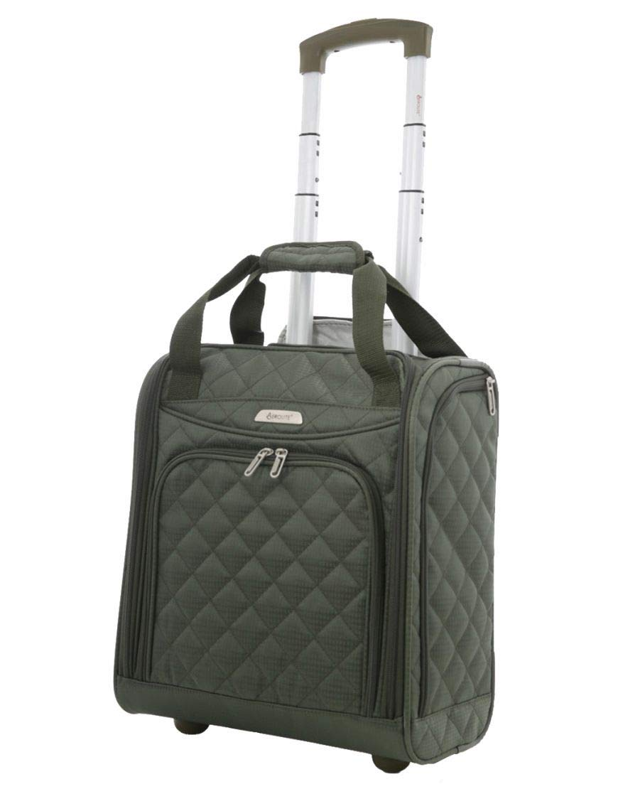 14b308345007 Airline Approved Underseat Carry On Personal Item Tote Bag Small Rolling  Luggage Wheeled Suitcase