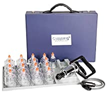 Cupping Warehouse MMT 17 Cup Plastic Professional Cupping Therapy Set w/Pump Gun and Extension Tube