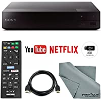 Sony BDP-S1700 Wired Blu-Ray Disc Player with HDMI Cable + Remote + FiberTique Cleaning Cloth