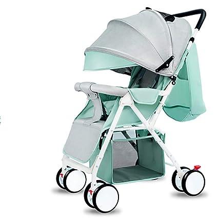 Tienda Cochecitos,Baby Ligera Plegable Compacto Solo Cochecitos Vacaciones Viaje Cochecito de bebe Seguro Cochecito