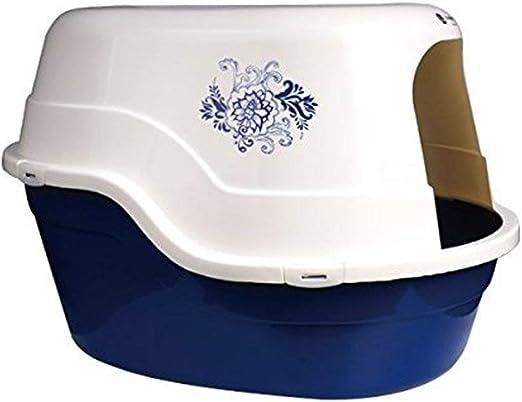 Nobleza Bandeja higiénica Cubierta para Gatos, Color Azul, Largo ...
