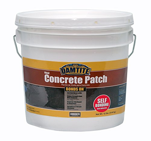 (Damtite 04012 Gray Bonds-On Vinyl Concrete Patch, 12 lb. Pail)