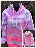 Neon Purple and Pink Tie Dye Unisex Hoodie with Pocket