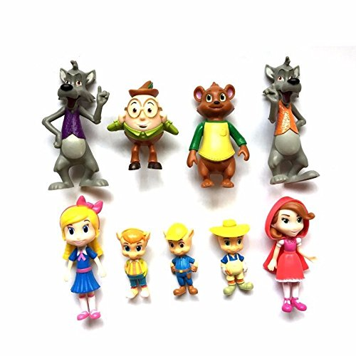 Goldie and Bear Little Red Riding Hood Fairy Tales Cake Figures Toy (Prince Singer Costumes)