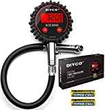 DIYCO Elite Series Digital Tire Pressure Gauge | for Cars Motorcycle Rv SUV Truck TPMS Bike | 150 PSI with Heavy Duty Air Hose | Professional-Grade High Accuracy Gauges | Designed in USA