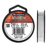 Beadalon WildFire .008-Inch Frost, 125-Yard