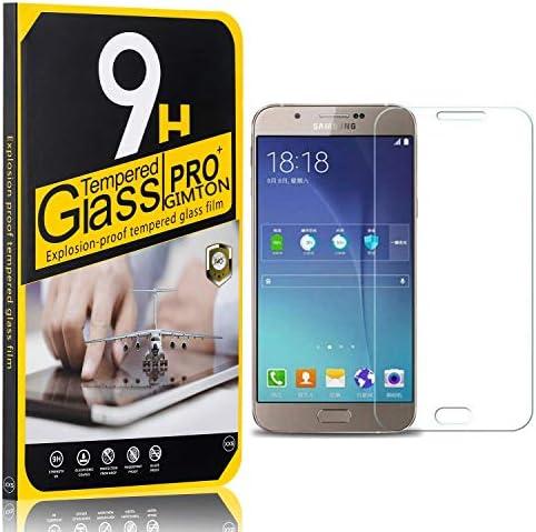 GIMTON Displayschutzfolie für Galaxy A8 2015, Ultra klar Schutzfilm aus Gehärtetem Glas, Anti Kratzen Displayschutz Schutzfolie für Samsung Galaxy A8 2015, 3 Stück