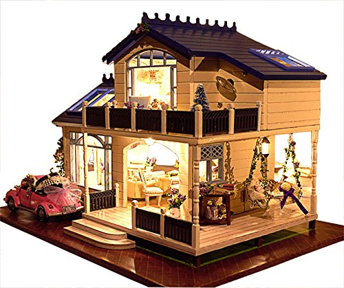 Doll Furniture Handmade - Rylai Wooden Handmade Dollhouse Miniature DIY Kit - Provence lavender Series Miniature Scene Wooden Dollhouses & Furniture/Parts(1:24 Scale Dollhouse)