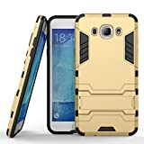 Mobiclonics Iron Man09 Graphic Designed Stand Hard Dual Rugged Armor Back Case Cover For Samsung Galaxy J2 Pro/J2 2016(Gold)