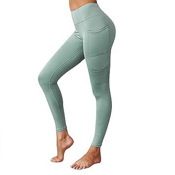 Damen Yoga Legging Gym Fitnesshose Sporthose Joggginghose Leggins Laufhose Hose